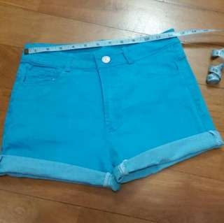 Blue shorts for girls ~ elastic
