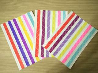 Journal triangle stickers