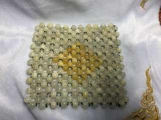 Natural Myanmar Mineral Stone Pad 天然缅甸矿石垫子