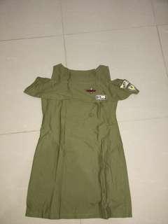 Dress Army Cewek