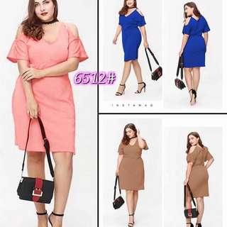 Plus Size Coldshoulder Dress - COD