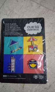 SG heritage pins - only 1 set