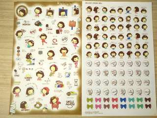 Korean wording stickers
