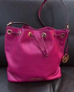 MK Drawstring Leather Bag