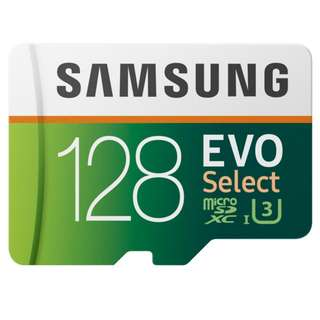 Samsung 128GB MicroSD EVO Select Memory Card with Adapter [INSTOCK]