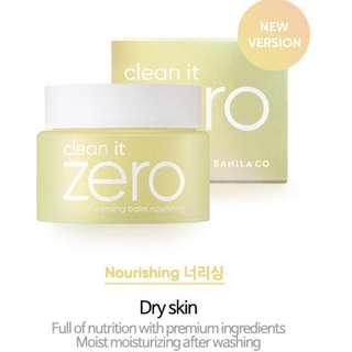 Authentic Banila Co Clean It Zero (Nourishing) Make Up Remover