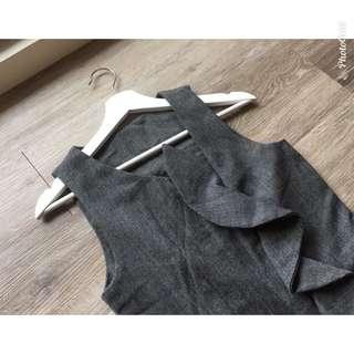 灰色連身褲
