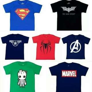 Kaos superhero anak 1-8 tahun