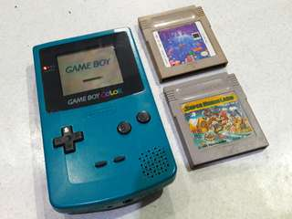 Nintendo Gameboy Color GBC with Mario Land and Tetris