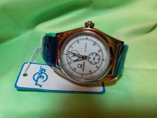 """廣州牌Guangzhou 始於1958年,其副線""""迪士蒙""""機械自動(不需電池)男錶,自家機芯,全新,未開封,做工精細,日曆,小三針,吊牌及原裝盒。"""