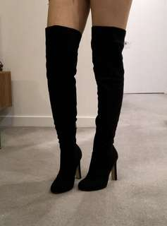 BRAND NEW Over the knee suede boots