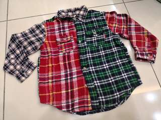 Kid Bow Checkered Shirt (4-5y)