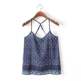 Aztec Backless Top