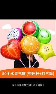 Foil fruit balloon for children party