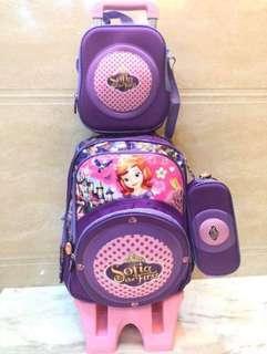 Trolley School Bag 3in1