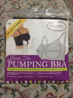 Hands free pumping bra