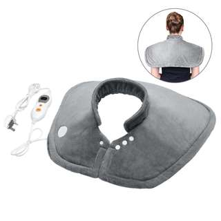 407. MARNUR Heat Pad Wrap Electronic Heating Neck Shoulder Upper Back Pad with Fast Heating and Hands Free Function and 6 Levels Temperature Settings for Muscle Pain and Stress Relieving