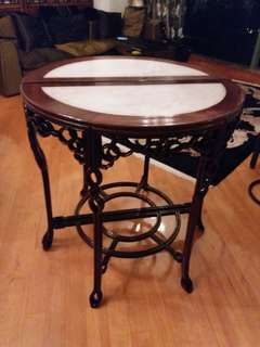Chinese Rosewood with marble table