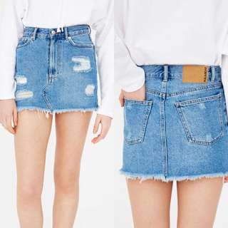 PULL&BEAR Mini Denim Skirt
