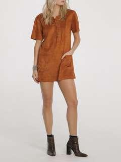 Suede brown dress