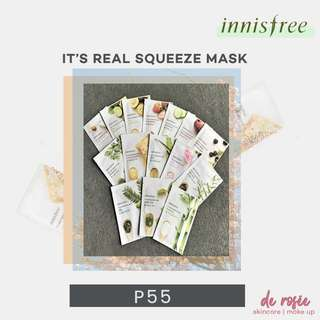 Innisfree It's Real Squeeze Face Mask (Honey, Rose, Bamboo, Acai Berry)