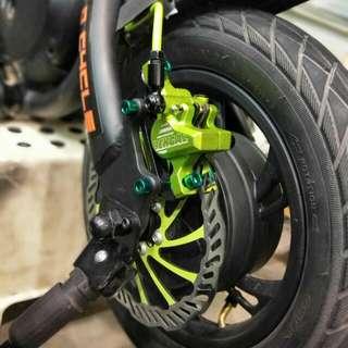 Dyu bengal hydraulic brakes upgrade
