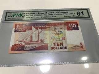 Fancy no note $10 Ship PMG Graded