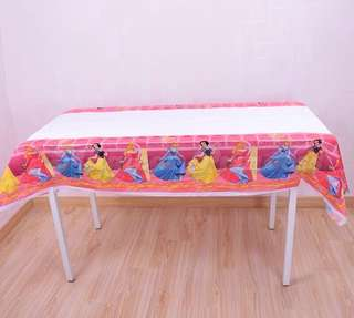 💕Princess Party supplies - princess tablecloth/ table cloth / table cover
