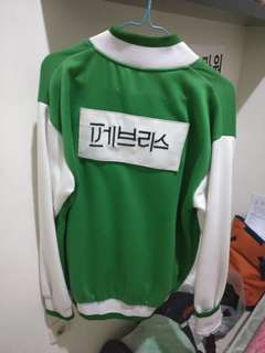 Jaket Baseball Running Man Green