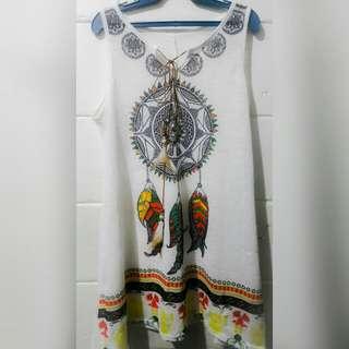 See through dress / cover up boho