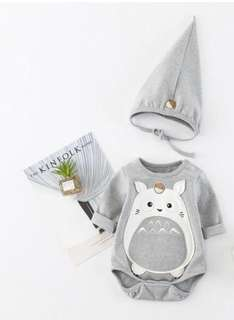 Totoro Bodysuit romper and Hat for Baby
