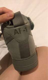 Nike Air Force 1 High - Top Army Green Canvas