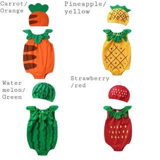 Unisex fruity onesies