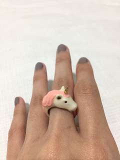 Unicorn enamel ring