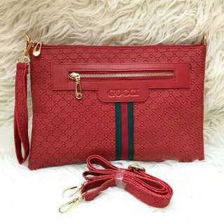 Tas Clutch Bag GUCCI Clutch Embossed wanita