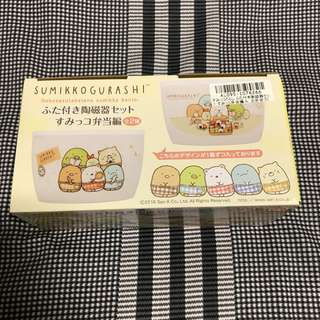 Brand new authentic Sumikkogurashi Bento Ceramic Set bowl with Lid import from Japan