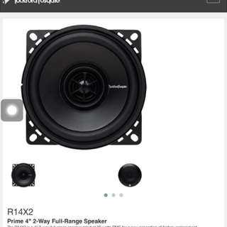 "Rockford fordgate 4"" car speakers"
