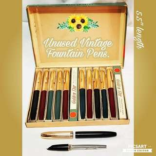 1960s Golden Star Fountain Pen. Unused, Good Condition & comes with original individual box as well as bigger box for one dozen. All 12pcs for $48 Clearance Offer! sms 96337309.