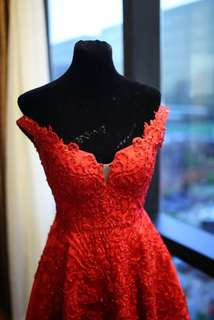 Elegant Red Gown For Rent