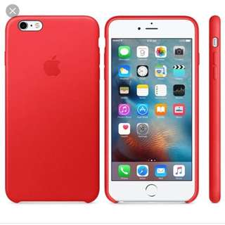 Iphone 6s Plus (Red) Leather Case 真皮殼