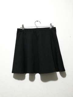 Forever21 F21 black skater skirt