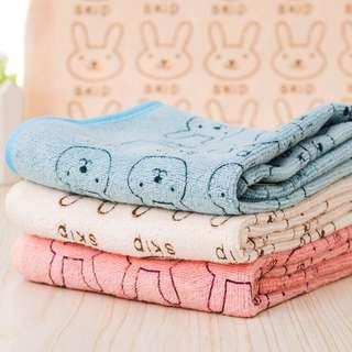 ~ Pre order ~ bath towel 25x50CM rabbit baby washcloth bathing cloth soft ~ PO ~