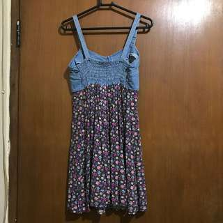 flowery-jeans dress