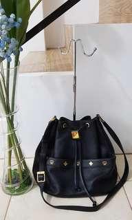 MCM Leather Drawstring Crossbody Bag