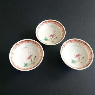 70'年代手繪粉彩精製小瓷碟