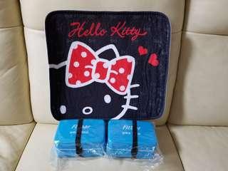 萬寧印花26個+Hello Kitty 地毯+食物盒2個