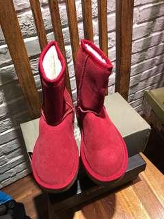 🚚 紅色雪靴