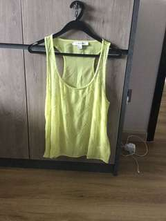 Forever 21 Green Beautiful Sleeveless green loose top blouse