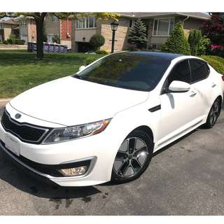 2013 Kia Optima Hybrid Premium Clear White