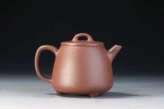 純正原礦紫泥全手工高石瓢壺,泡普洱好茶器